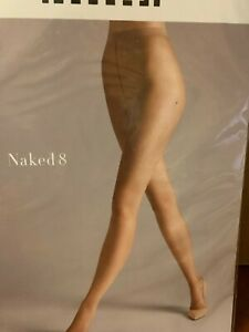 Wolford Naked 8 Tights Pantyhose Black, Fairly Light XS, L