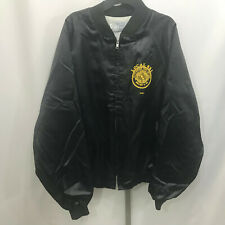 Men's Vtg King Louie URW United Rubber Workers Black Jacket XL Local 831 B2