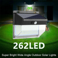 262 LED PIR Motion Sensor Solar Power Waterproof Garden Light Outdoor Yard Lamp