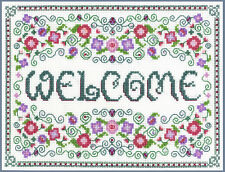 Welcome Sampler - complete cross stitch kit on 14 aida with COLOUR chart