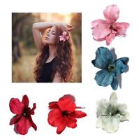 NEW Beautiful Velvet Touch Orchid Flower Hair Clip, 15 Colours, UK Seller