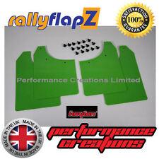 rallyflapZ MG ROVER MG ZR (01-05) Mud Flaps Mudflaps Lime Green Polyurethane PU