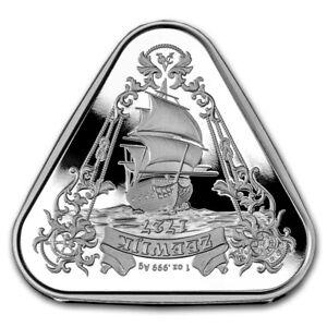 2021 Australian Zeewijk Shipwreck 1oz .999 Silver Triangle Coin with Capsule