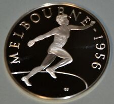 MELBOURNE 1956 DISCUS - HISTORY OF THE OLYMPIC GAMES .925 SILVER MEDAL