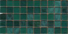 50pcs N45 Dark Teal Natura Opaque Glass Mosaic Tiles 15mmx15mmx4mm Paper faced