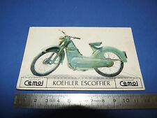 CHROMO 1950-1959 CHOCOLAT CEMOI DECOUPAGE MOTO MOTOCYCLETTE KOEHLER ESCOFFIER