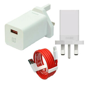 Official OnePlus Dash 20W 3 Pin UK Wall Fast Adapter Plug DC0504B4GB Dash Cable