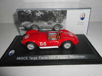 MASERATI A6GCS TARGA FLORIO 1953 FANGIO MANTOVANI LEO MODELS  1/43