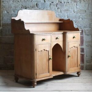Antique Victorian Pine Farmhouse Sideboard Wash Stand