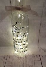 Beautiful Light Up Wine Bottle With Love In This Family Quote