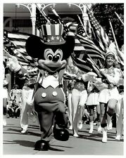1984 Original Photo Mickey Mouse leads parade at Walt Disney World Magic Kingdom