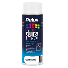 Dulux Duramax 340g Satin Vivid White - Spray Paint