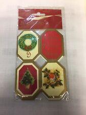 20 x christmas gift tags self adehesive (mx)