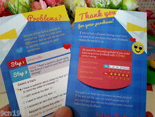5 Stars Service Rating Cards 100pcs Thank You for Your Purchase Card Seller Card