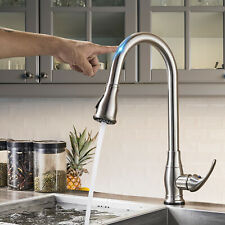 Touch Sensor Activates Kitchen Faucet Pull Out Sprayer Sink Vessel Mixer Taps