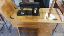 VINTAGE SINGER SAWING MACHINE MODEL:301 WITH ACCESSORIES/CARBINETT