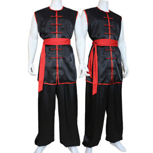 Sleeveless Kung Fu Tai Chi Uniform Martial Arts Suit Nanquan Shaolin Outfit Sets