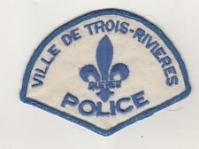 Ville de Trois-Rivieres City Police Shoulder Patch Quebec Police Canada