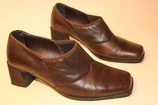Footglove Women's brown leather mid heel shoes uk 6