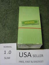 1 box MOON GREEN SLIM 1.0 Cigarette Rolling Papers 50 leaves/pack 70X36mm HEMP