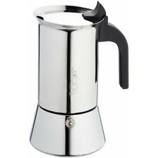 Bialetti Venus - Stove Top Espresso Maker - Stainless Steel With Black Insulated