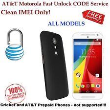 AT&T Motorola Atrix 2 MB865 4G MB860 HD MB886 BRAVO MB520 MOTO E Unlock CODE
