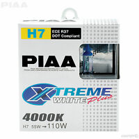 HE-309 PIAA H7 BULBS XTREME WHITE PLUS 4000K 12V 55W UPRATED HEADLIGHT TWIN PACK