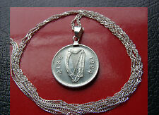 Birthyear 1994 IRELAND HARP Celtic Luck Charm Pendant on a 925 Silver Wavy Chain