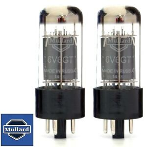 Brand New Mullard Reissue 6V6 6V6GT Current Matched Pair (2) Vacuum Tubes