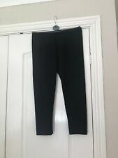 Black Cropped Leggings (Size 12-14 - see listing) from Peacocks - NEW
