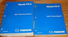 Original 2005 Mazda RX-8 Shop Service Manual + Wiring Diagram Set 05