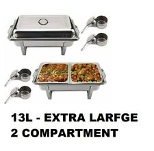 More details for 13l xlarge chafer chafing dish sets pans stainless steel catering food warmer