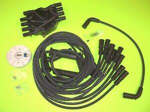VOLVO PENTA 5.0 5.7 GI GXI FLAT DISTRIBUTOR CAP ROTOR  spark plug wires kit SET