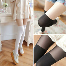 Sexy Tights Mock Knee High Hosiery Pantyhose Tattoo Female Tights Long Stocking