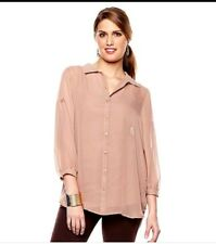 """New Queen Collection """"Bold Summer"""" Tunic Blouse with Cami Desert Blush Size 2X"""