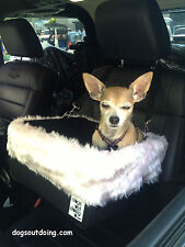 Small Black Dog Car Booster Seat (Baby Pink Flamingo) Dogs Out Doing *