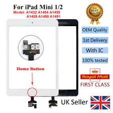For iPad mini 1/2 White Touch Screen Digitizer Glass Replacement IC Tools Button