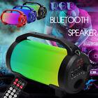 Wireless bluetooth Speaker USB Portable Subwoofer Super Bass LED Stereo F