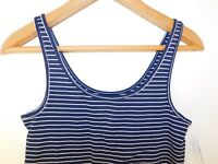 NWT Gap Women's Favorite Fitted Stretch Tank Top Navy Striped XS & S NEW