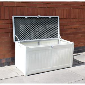 150L Outdoor Plastic Garden Storage Chest Box