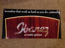 Ibanez Acoustic Guitar Banner