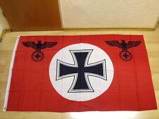 Fahnen Flagge Deutsches Reich Reichsadler Eisernes Kreuz  ROT  - 90 x 150 cm