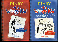 Lot 4 Diary of a Wimpy Kid Books 1 3 4 Hardcover Og Rodrick Rules Dog Days Movie