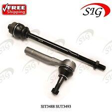 JPN 1 Inner & 1 Outer Tie Rod for Chevrolet GMC Warranty S-ES3493 S-ES3488