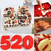 Große Silikon-Zahl-Kuchen-Form-Geburtstag-Party-Backform-Jahrestag 0-9 alt Jahre