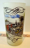 Choo Choo Train Tumbler Mid Century Currier & Ives