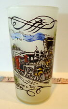 Locomotive Train Scene Tumbler Mid Century Currier & Ives
