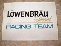 PORSCHE ORIGINAL OFFICIAL 956 962 LOWENBRAU SPECIAL RACE CAR DECAL SET x2 1980's
