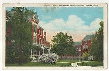 Scene at State Industrial Home for Girls ADRIAN MI Vintage Michigan Postcard