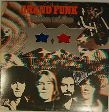 "SIGNED MARK FARNER AUTOGRAPHED GRAND FUNK RAILROAD 12"" VINYL LP W/PIC"